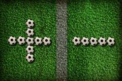 Symbool van voetbal royalty-vrije stock afbeelding