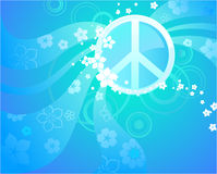 Symbool van vrede in het blauw Vector Illustratie
