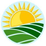 Symbool van zon en gebied royalty-vrije illustratie