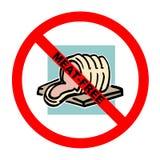 Symbool: Vlees-vrije Tekst Royalty-vrije Stock Afbeeldingen
