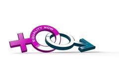 Symbool voor de Gelijkheid tussen de Mens en Vrouw Stock Foto