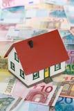 Symbool voor huis financiering (Euro) royalty-vrije stock fotografie