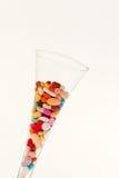 Symbool voor tabletten en drugsverslaving Royalty-vrije Stock Foto's