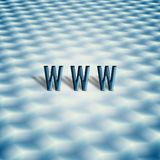Symbool WWW met abstract toetsenbord Stock Foto's