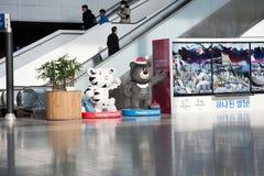 Symbool 2018 XXIII de Winterolympics De Post van Seoel Royalty-vrije Stock Afbeeldingen