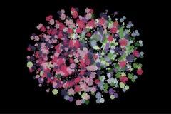 Symbool yin-Yang met multicolored plonsen van een borstel wordt geschilderd die vector illustratie