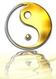 Symbool ying-Yang stock foto