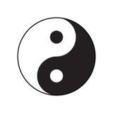 Symbool ying-Yang van harmonie en saldo Royalty-vrije Stock Foto's