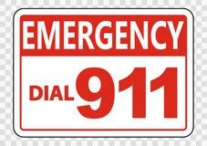 symboolNoodoproep 911 Teken op transparante achtergrond vector illustratie