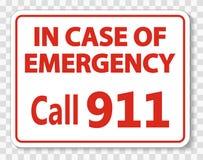 symboolvraag 911 Teken op transparante achtergrond vector illustratie