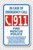 symboolvraag 911 Teken op transparante achtergrond royalty-vrije illustratie