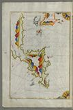 Syme (Sömbeki) island north-west of Rhodes (Rodos) island from Book on Navigation, Walters Art Museum Ms. W.6 Royalty Free Stock Photos