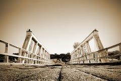 Symetrical Bridge. Low angle shot of old bridge stock photos