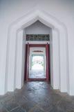Symetrical gate of Wat Arun Stock Images