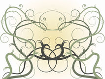 Symetrical Vines. Abstract vector graphic bakground of symetrical vines reaching reaching toward the light royalty free illustration