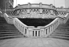 Symetrie of stairs. Taken by a castle Stock Photography