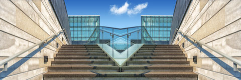 Symetrie of stairs Stock Images