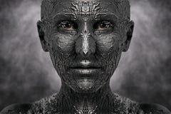 Symetryczna okropna twarz obraz royalty free