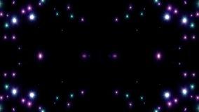 Symetrycznej purpury gwiazdy wybuchu błysku animaci sztuki tła błyszczącej loopable nowej ilości naturalni oświetleniowi lampowi  ilustracji