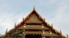 Symetryczny dach świątynia obraz stock
