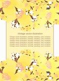 Symetryczny deseniowy kwiecisty z jaśminem dla karty Wektorowy illus Zdjęcia Royalty Free