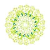 Symetryczny kurenda wzór na bielu postać z kreskówki śmieszny ilustratora ołówek pisze setu wektor Obrazy Royalty Free