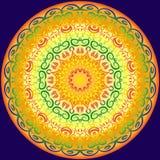 Symetryczny kurenda wzór w jaskrawych kolorach ilustracji