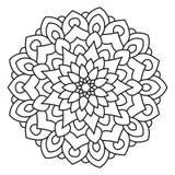 Symetryczny kurenda wzoru mandala ilustracji
