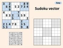 Symetryczny Sudoku z odpowiedziami royalty ilustracja
