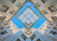 Symetryczny wnętrze stary budynek zdjęcie royalty free