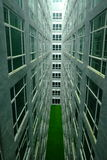 Symettry of windows building Royalty Free Stock Photo