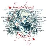 Symfoni av död Vektor Illustrationer