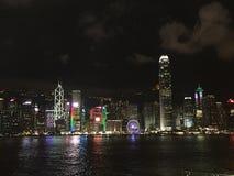 Symfoni av ljus i Hong Kong Arkivfoton
