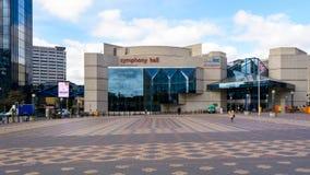 Symfoni Hall Birmingham Zachodnia fasada Zdjęcie Royalty Free