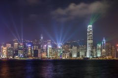 Symfonia światło, Hong kong Obrazy Royalty Free