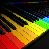 Symfonia kolory Zdjęcie Royalty Free