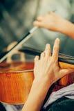 Symfonieorkest op stadium royalty-vrije stock afbeeldingen