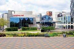 Symfoniezaal, Birmingham stock afbeeldingen