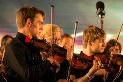 Symfoniorkester av det Leuven universitetet royaltyfri foto