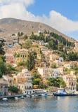 Symi ö Grekland Arkivbild