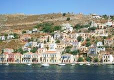 symi острова Греции стоковая фотография
