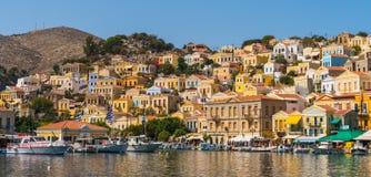 Symi, Grécia, em setembro de 2017 - ilha bonita de Symi Fotos de Stock Royalty Free
