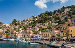Symi in summer royalty free stock photography