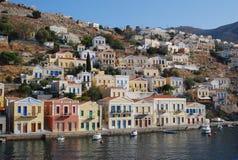 symi Greece.The Wyspa. obraz stock