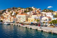 Symi Griekenland Europa Stock Foto's