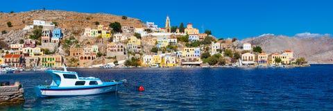 Symi Griekenland Europa Stock Afbeeldingen