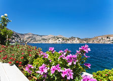 Symi Harbour Royalty Free Stock Photo