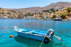 Symi Harbour. Greece Royalty Free Stock Photo