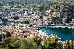 Symi, ilha de Dodecanese, Grécia imagens de stock royalty free