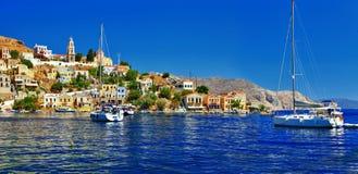 Symi-Insel, Dodecanese Stockfotos